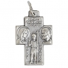 Religious Pendant St.christ/ Holy Family Nickel with ring Sml.